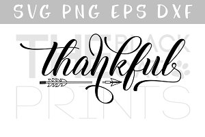 Thankful SVG DXF PNG EPS Arrow svg
