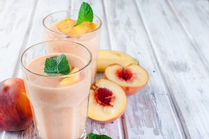 Smoothie with apricot, peach