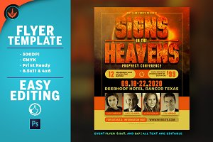 Signs in the Heavens Flyer Template