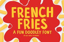 French Fries - A Fun Doodley Font