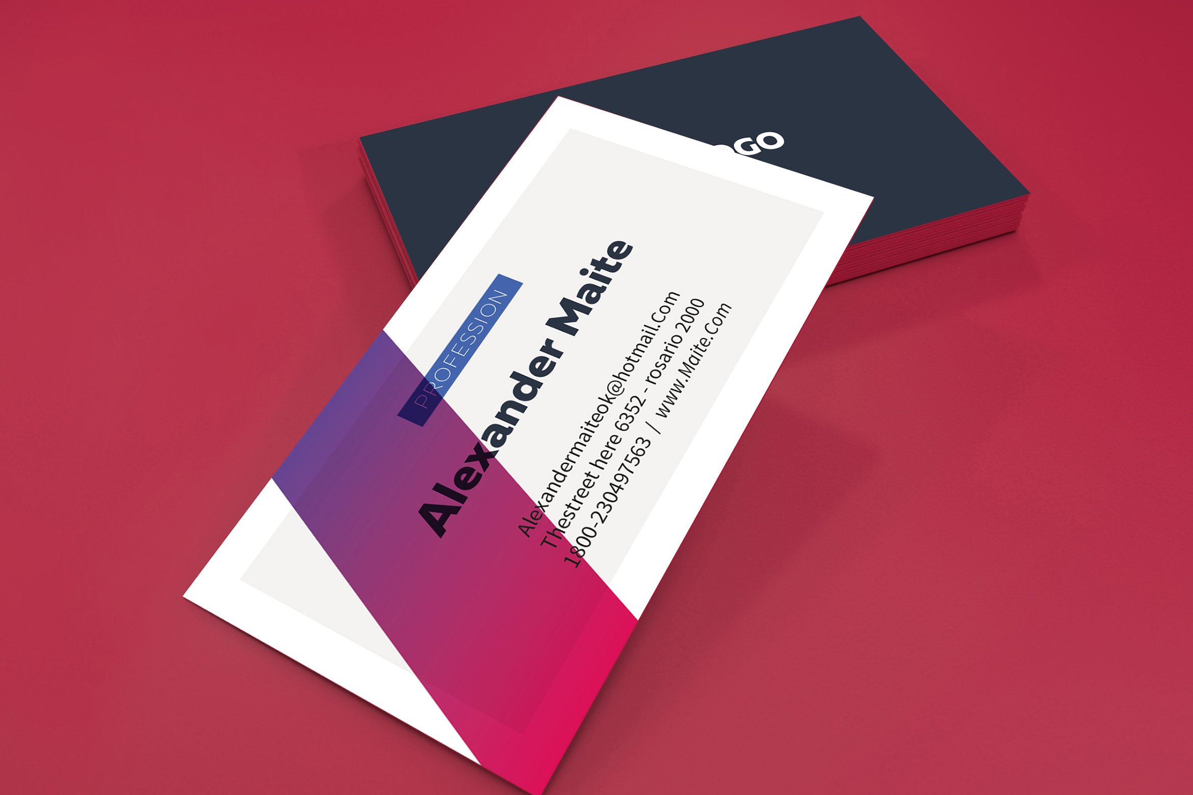 Gradient Business Card Template ~ Business Card Templates ...