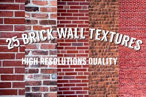 25 Brick Wall Textures Hi-Res
