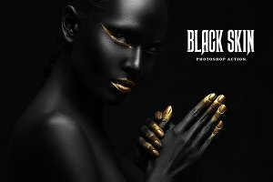 Black Skin Photoshop Action