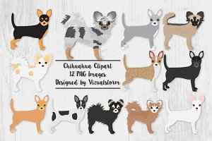 Chihuahua Clipart Dog Illustrations