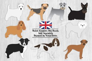 United Kingdom Dog Breeds Clipart