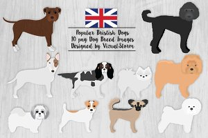 British Dog Breeds Clipart Graphics