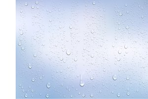 Realistic water droplets. Vector