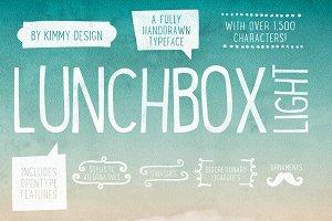 Lunchbox Light + Webfonts