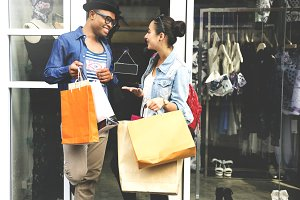 Couple shopping together