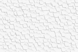 3D white pentagonal pattern