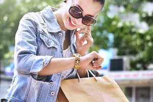 Woman out for shopping