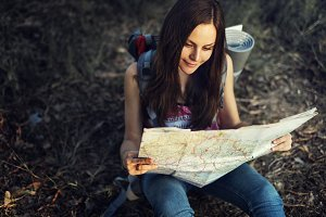 Young female traveler