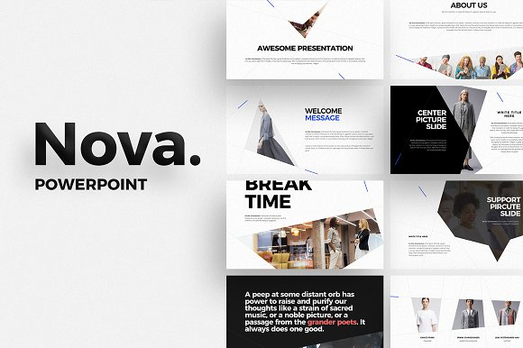 nova powerpoint template presentation templates creative market