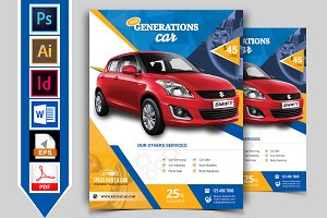 Rent A Car Flyer Template Vol-01