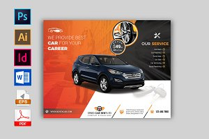 Rent A Car Flyer Template Vol-02