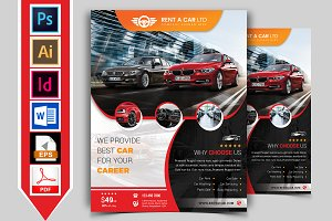 Rent A Car Flyer Template Vol-05