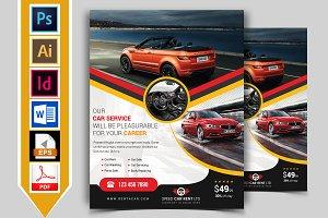Rent A Car Flyer Template Vol-10