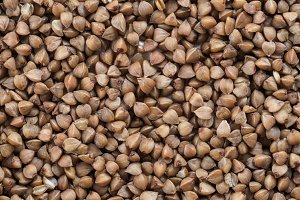 Buckwheat grains background