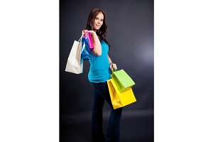 Young Woman Enjoying Her Shopping Spree