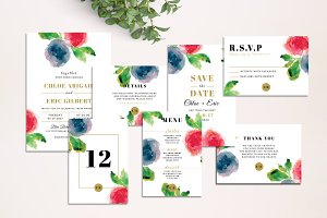 Flowery - Wedding Invitation Suite