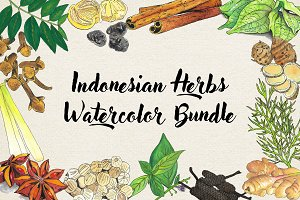 Indonesian Herbs Watercolor