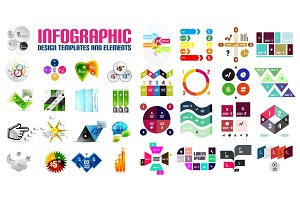 Vector colorful geometrical info banners