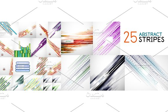 Abstract line background set, mega collection