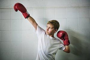 Young boxer boy
