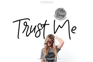 Trust me | Handwritten Font & 9Logos