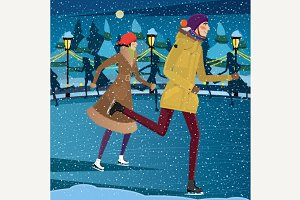 Night at the ice rink