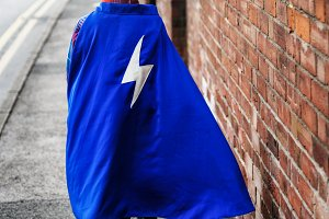 Superhero Kid Walking