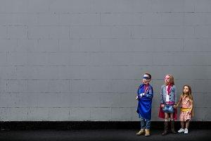 Superhero Kids Look Up