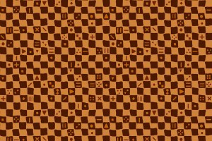 Mudcloth checker seamless pattern