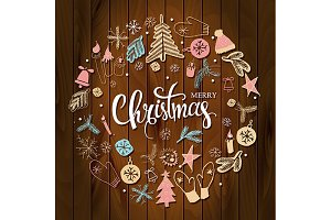 2 Christmas greeting cards
