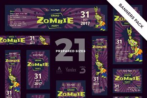 Banners Pack | Zombie Party