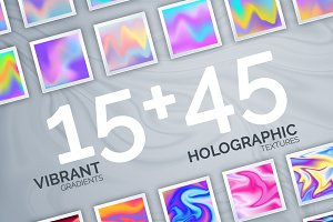60 Vibrant & Holographic Textures