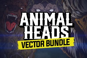 ANIMAL HEADS VECTOR BUNDLE