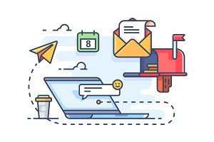 Mail marketing mailing to e-mail
