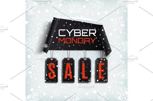 Cyber Monday Sale Winter Design