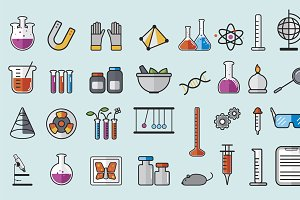 Illustration of chemistry laboratory