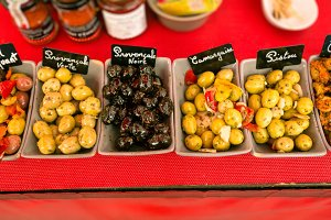 Fresh Olives At A Market In Southern France