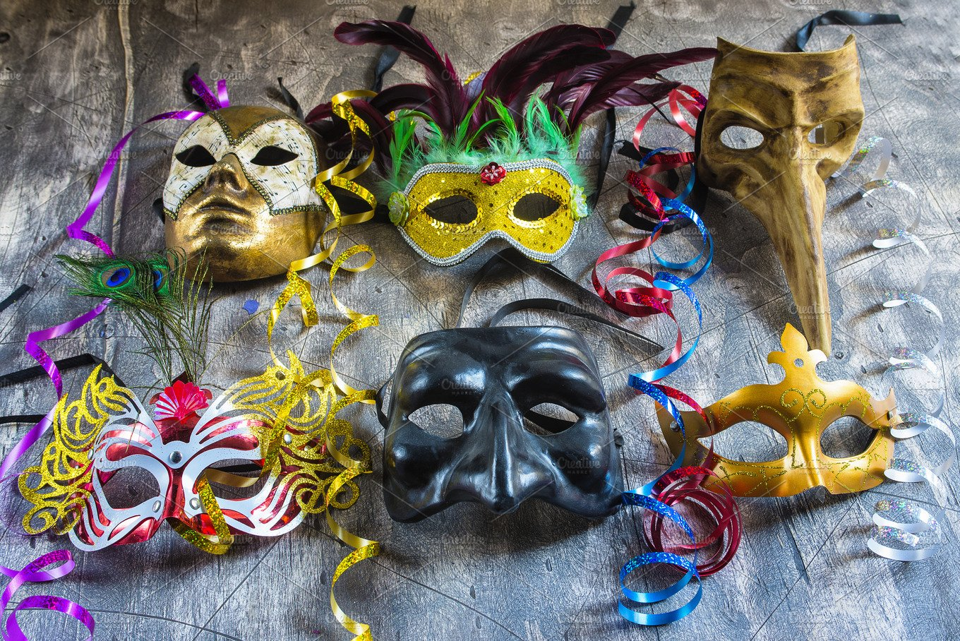 carnival masks and serpentine arts entertainment photos