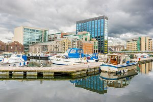 Grand Canal dock in Dublin