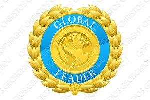 Gold Global Leader Winner Laurel Wreath Medal
