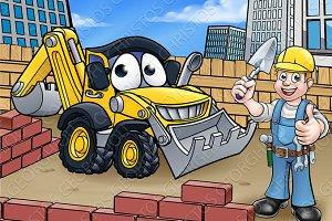 Construction Building Site Scene