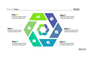 Six Steps Hexagon Slide Template