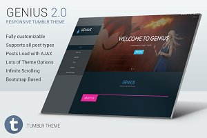 Genius - Responsive Tumblr Theme