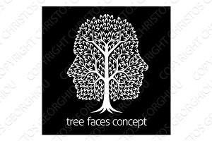 Faces Tree Icon