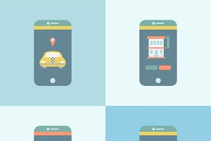 Illustration of mobile application