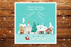 Merry Christmas vector greeting card